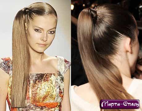 Выпрямите волосы щипцами и