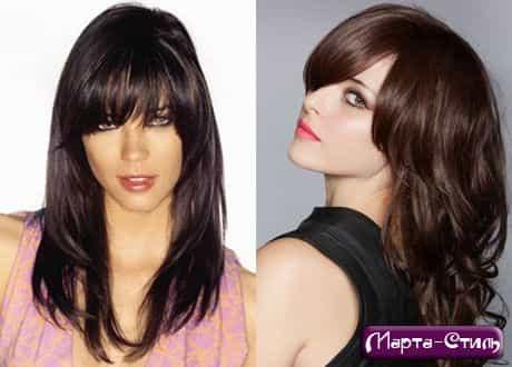 Модные женские стрижки на длинные волосы 2013. на длинные волосы. челкой. .