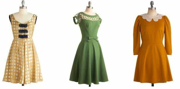 Модные зимние платья в ретро стиле