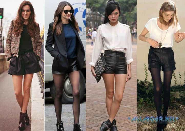 Кожаные и джинсовые шорты 2014
