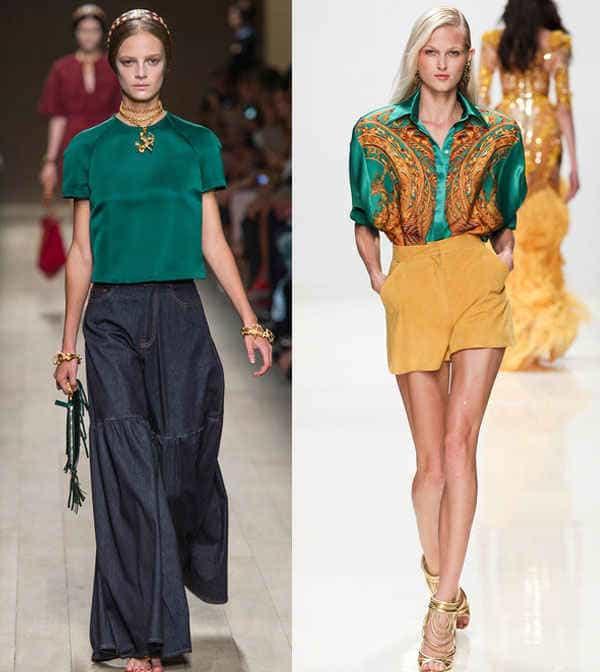 Модные блузки весна-лето 2014