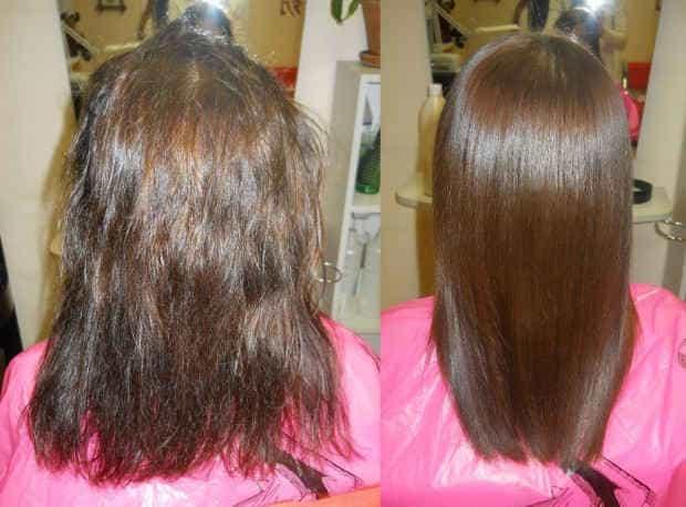 Кератиновое выпрямление волос купить спб
