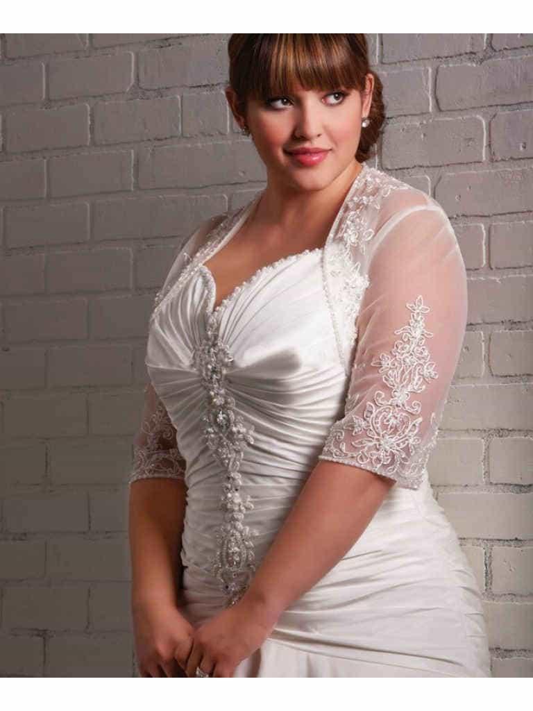 свадебная мода для пышек