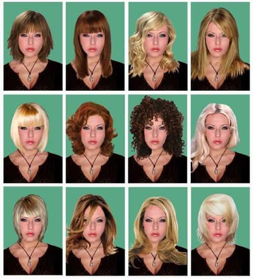 воспользуйтесь программой по  подбору стрижки и цвета волос