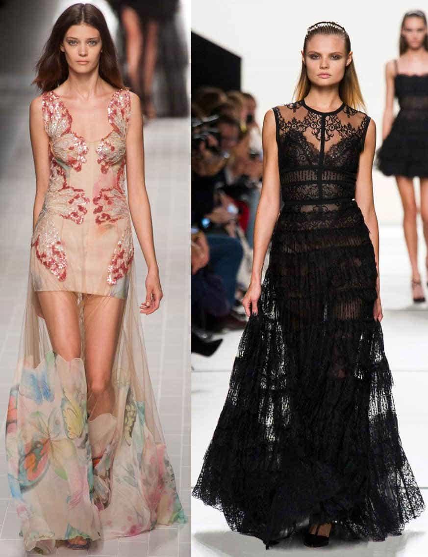 Длинные вечерние платья 2014