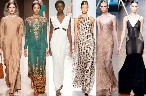 Модные длинные платья 2014