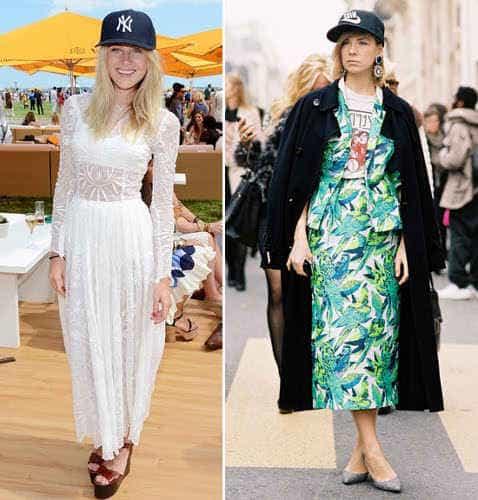 бейсболка и платье