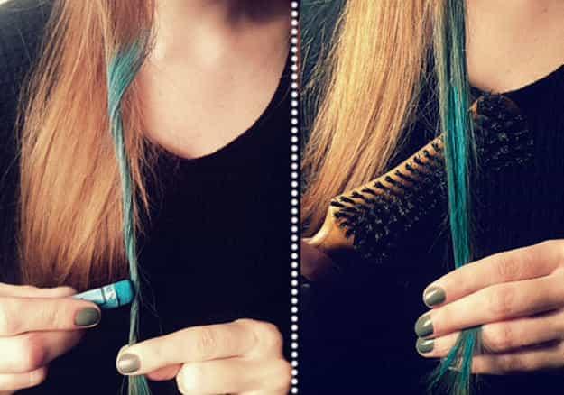окрашиваем волосы мелом