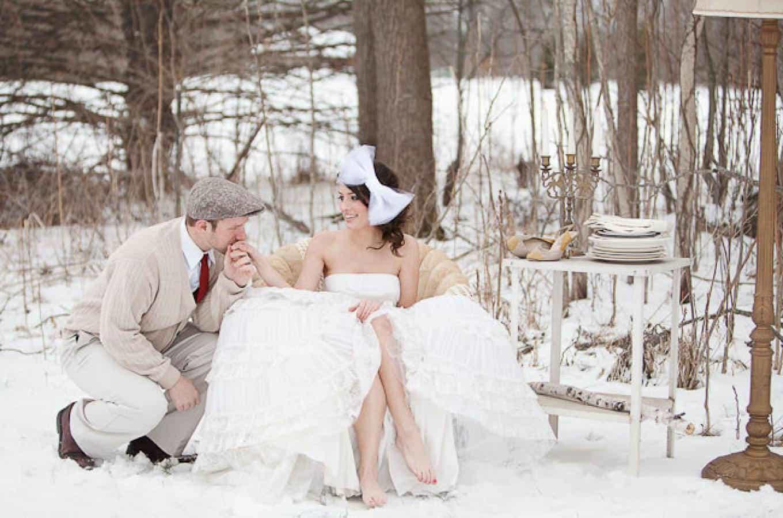 романтичная свадьба зимой