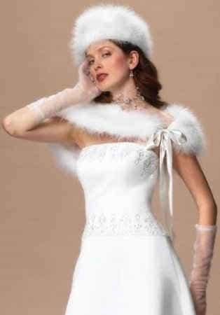 роскошный стиль свадебного образа невесты  зимой