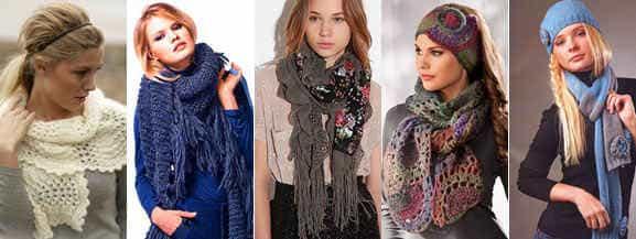 красиво надетый шарф