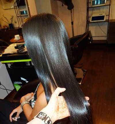 роскошь волос после кератинового выпрямления