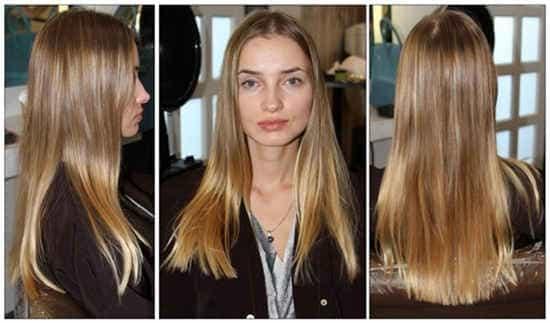 Окрашивание волос в два цвета (калифорнийское)