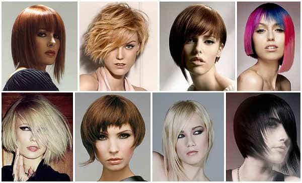 асимметрия в стрижках для тонких волос