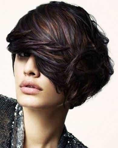 необычное колорирование на темный волос