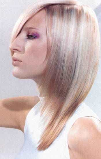 очень удачный вариант колорирования светлых волос