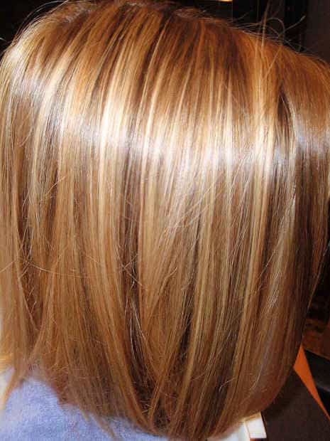 Мелирование волос три цвета
