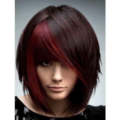 яркое и смелое колорирование темного волоса