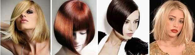 Стрижки для тонких волос с ровными срезами