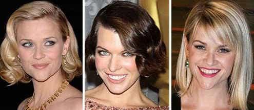 Стрижки для волос средней длины для треугольного лица