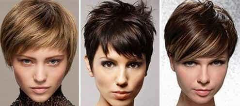 Стрижки на короткие волосы для треугольного лица