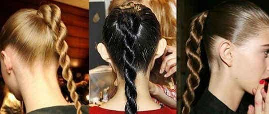 Модный жгут из волос