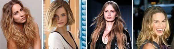 Брондирование русых волос с эффектом омбре