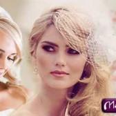 Свадебные прически на средние волосы (42 фото)